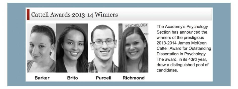 Braden Purcell wins honorable mention for James McKeen Cattell Award