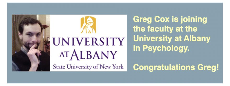 Greg Cox begins faculty position at the University at Albany