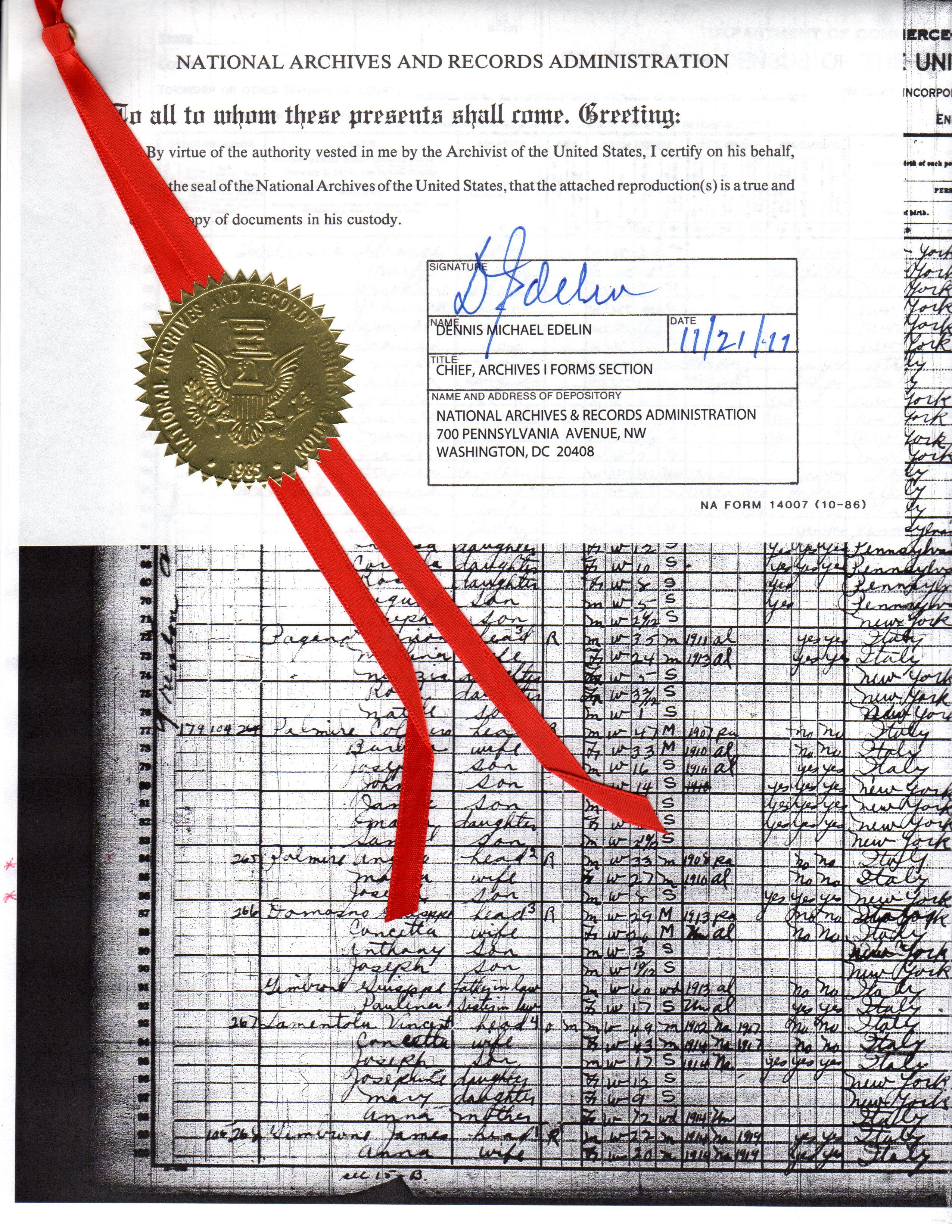 Palmerit page 9 genealogy and jure sanguinis 1910 nara certified census aiddatafo Gallery