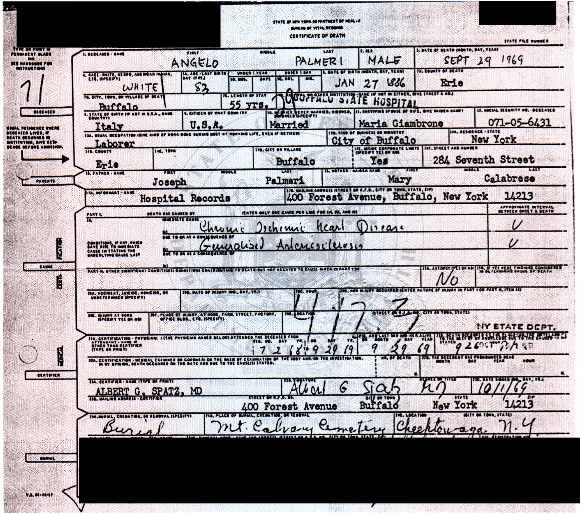 New york genealogy and jure sanguinis death certificate for my great grandfather received from ny 1betcityfo Images