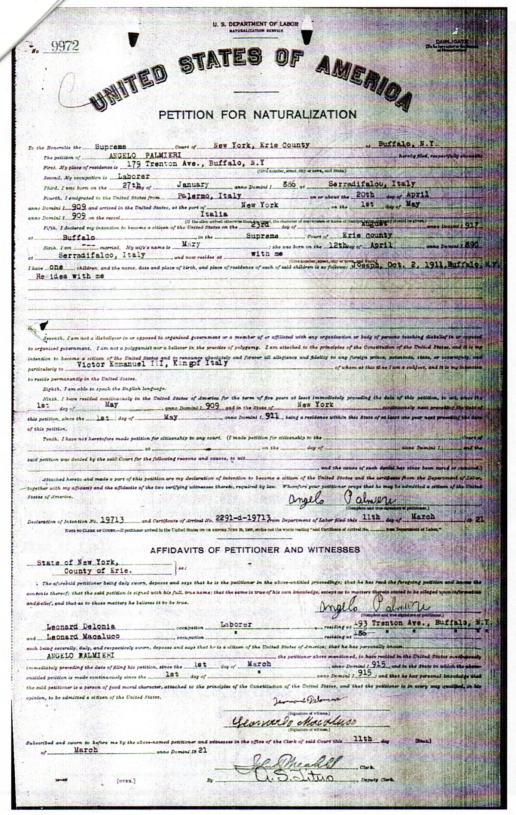 Palmeri page 4 genealogy and jure sanguinis thats 10 years after my grandfather was born in the united states were eligible to declare italian citizenship aiddatafo Gallery
