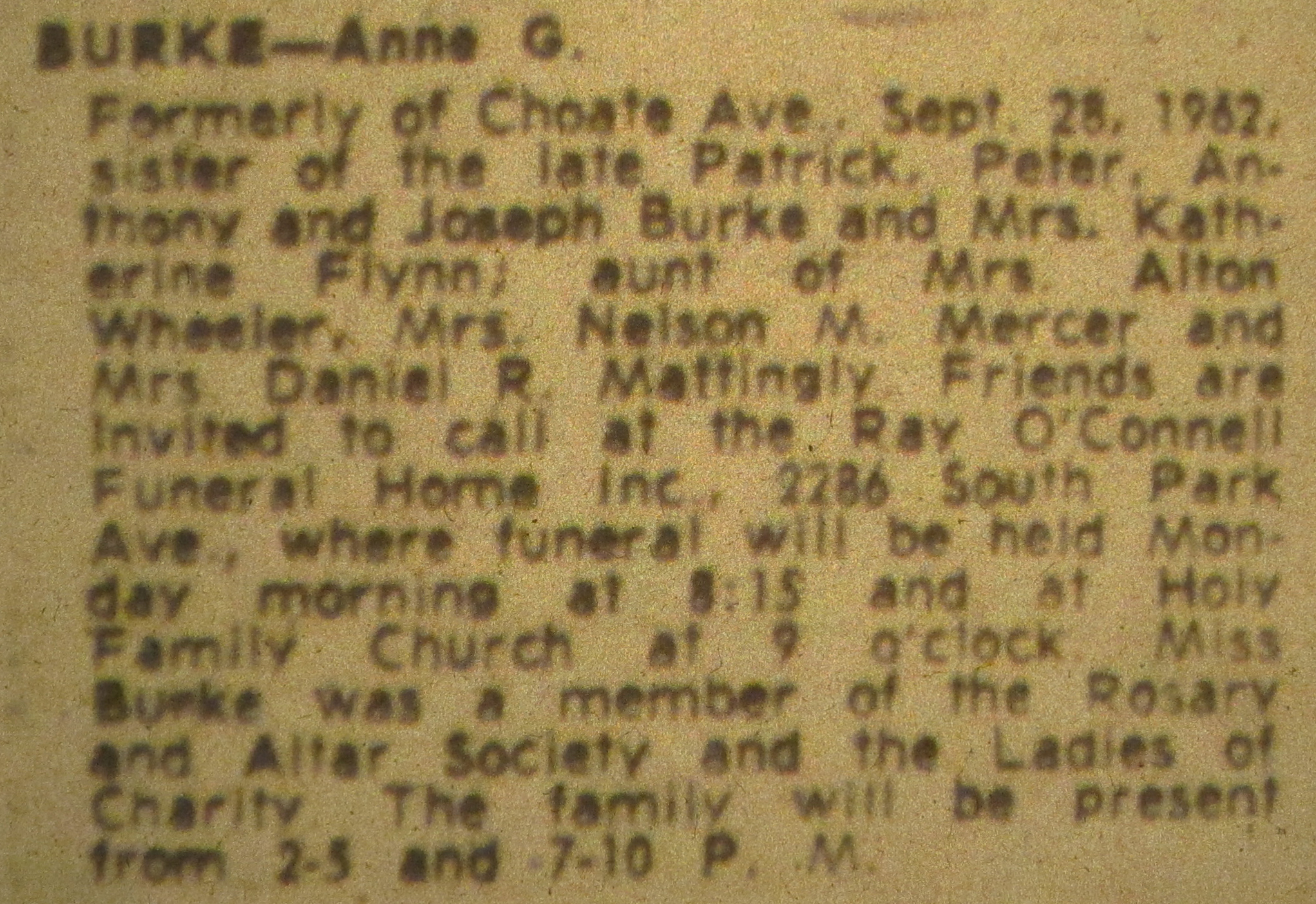 Obituary for anna g burke genealogy and jure sanguinis im going to try to get her death certificate in september after 50 years have passed and it becomes a public record xflitez Choice Image