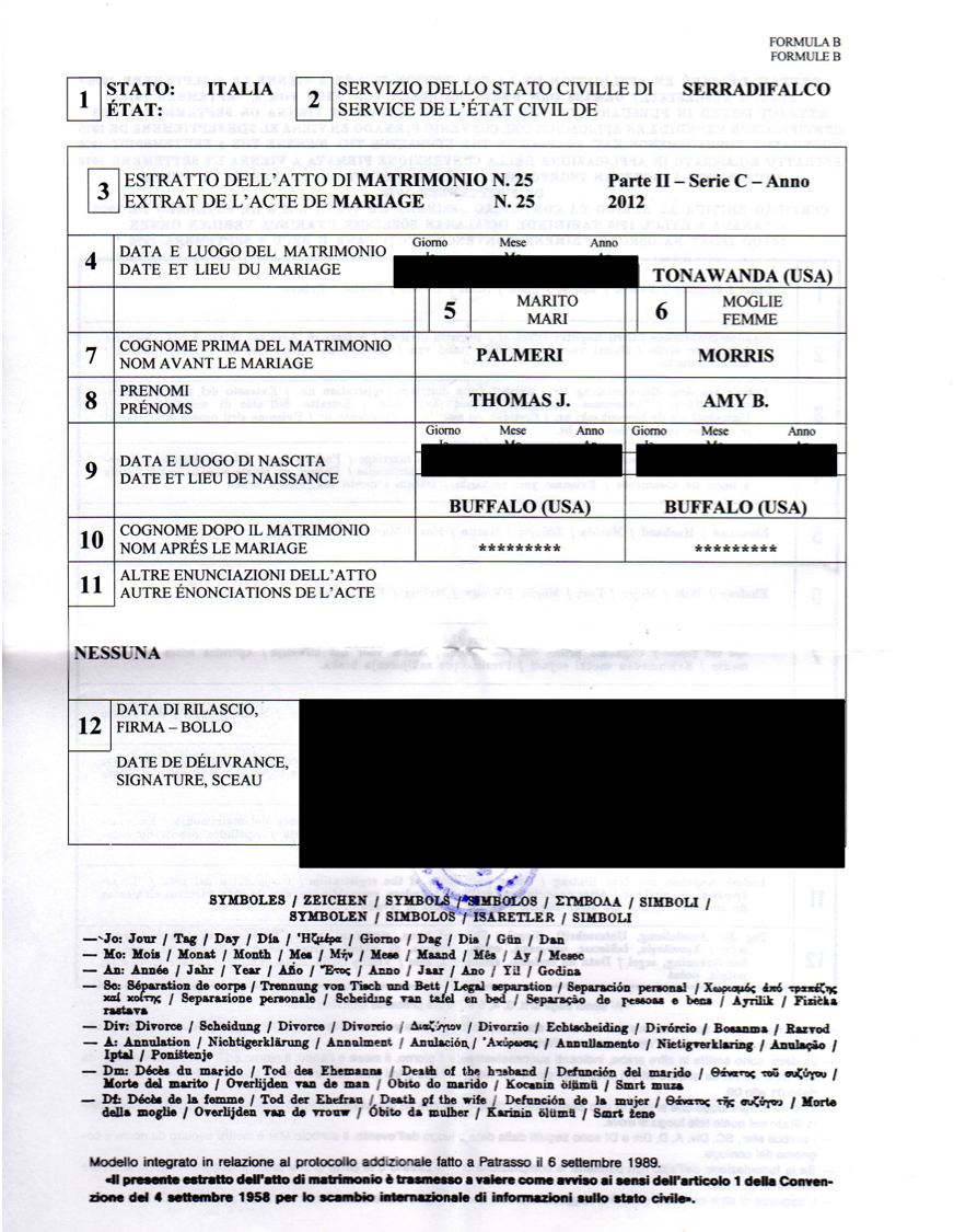 Birth certificate genealogy and jure sanguinis my italian birth certificate redacted of course aiddatafo Choice Image