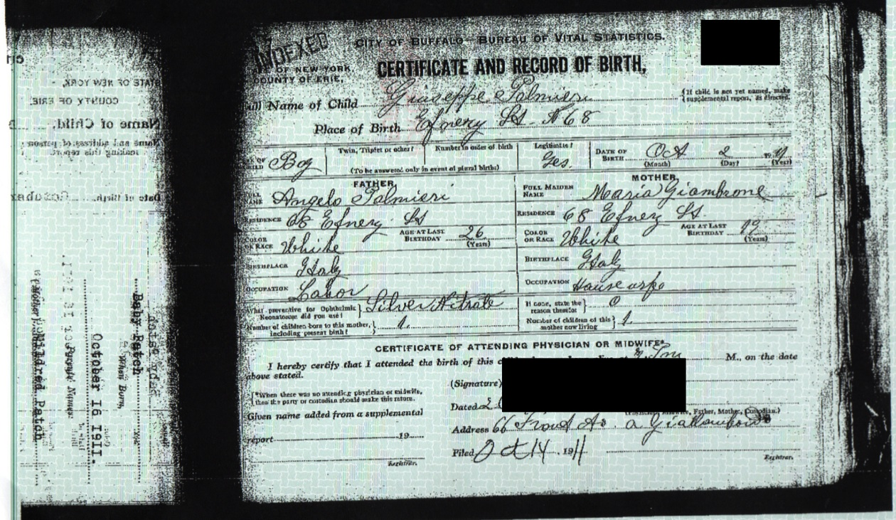 birth certificate – Genealogy and Jure Sanguinis