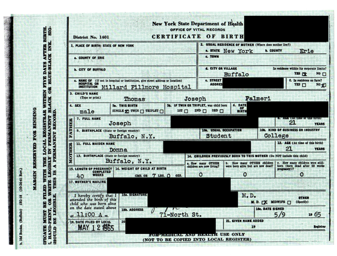 Birth certificate genealogy and jure sanguinis they arrived today 1betcityfo Image collections